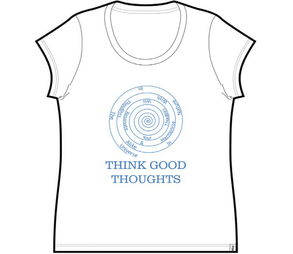 Good Thoughts Ladies Cap Sleeve Tee White