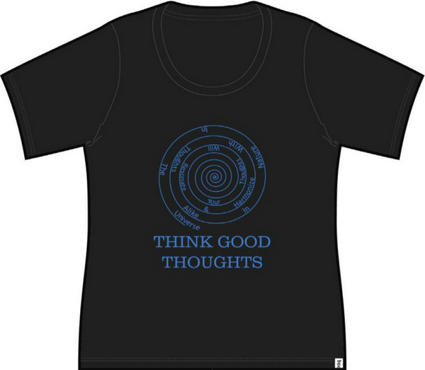 Good Thoughts Ladies Short Sleeve Tee Black