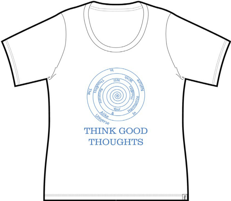 Good Thoughts Ladies Short Sleeve Tee White