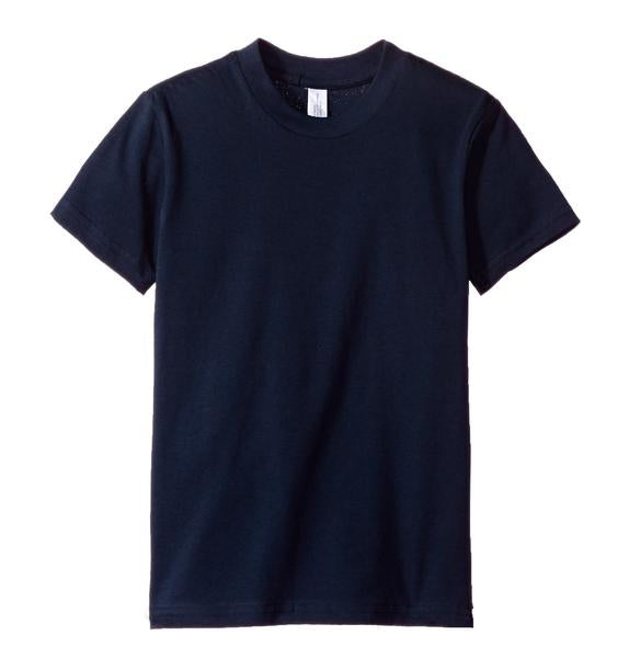 Kids Short Sleeve Tees Navy Blue