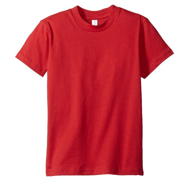 Kids Short Sleeve Tees Red
