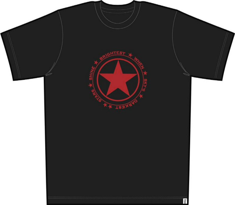 Stars Shine Men Short Sleeve Tee Black