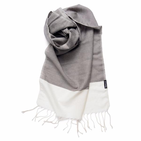 Handwoven Urban Chic Classic Scarf - Stone color