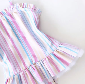 FRILLY SWIMSUIT STRIPE