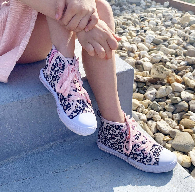 LH LEOPARD HIGH TOP SNEAKERS
