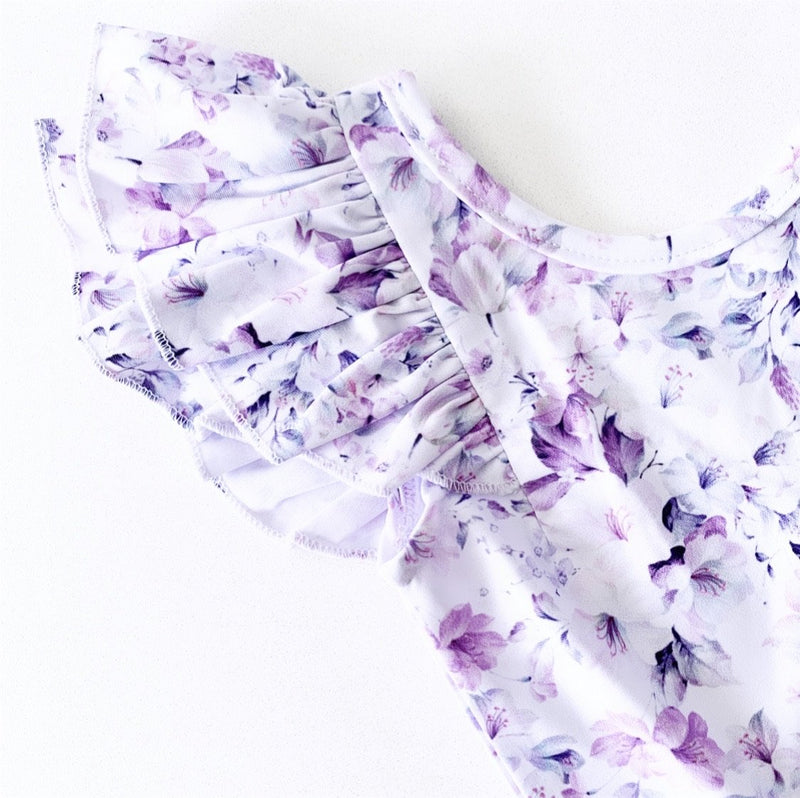 LILAC SUMMER BLOOM DOUBLE FRILL LEOTARD