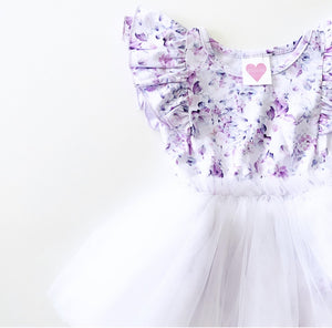 LILAC SUMMER BLOOM LUXE DOUBLE FRILL TUTU DRESS