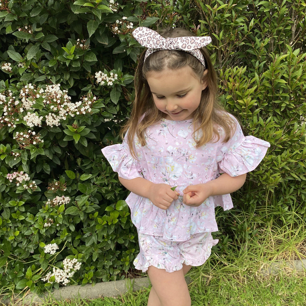POSY PINK FRILLY PEPLUM TOP