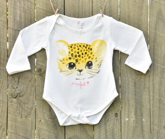 Cotton Cheetah Romper + Leggings Set