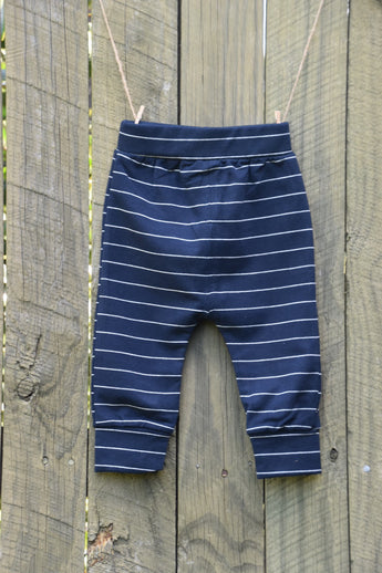Navy Stripe Winter Pants