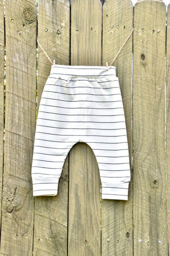 White Stripe Winter Pants