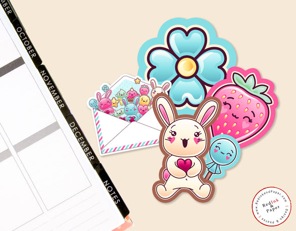 Love Bunny Kawaii Die-cut Set