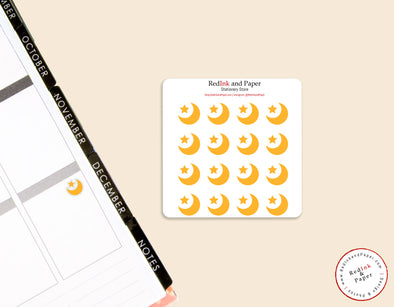 Muslim Crescent Sticker Sheet