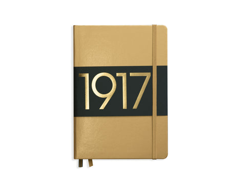 Special Edition Metallic Edition Notebooks, Hardcover, Dotted, Gold