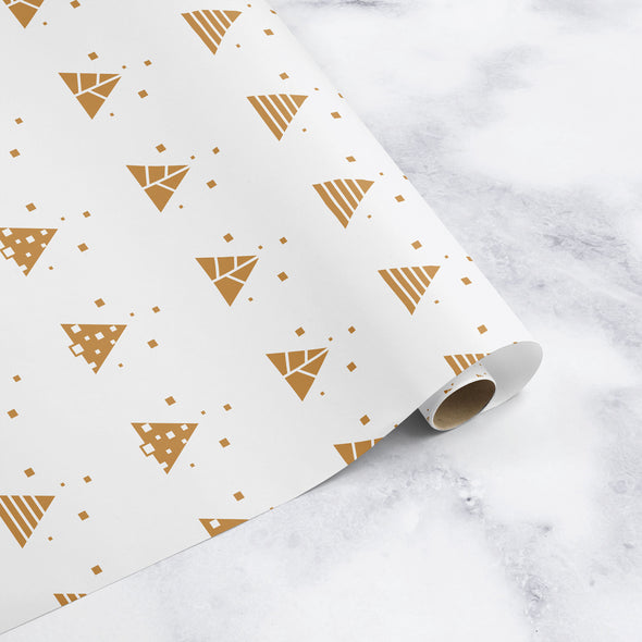 Geo Christmas Tree Wrapping Paper Sheet