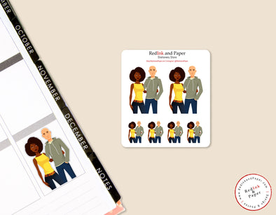 Date Night 6 Sticker Sheet