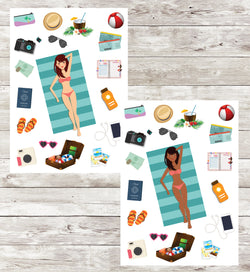 Travel Sticker Sheet_Beach