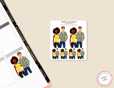 Date Night 4 Sticker Sheet