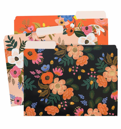 FILE FOLDERS SET_ LIVELY FLORAL
