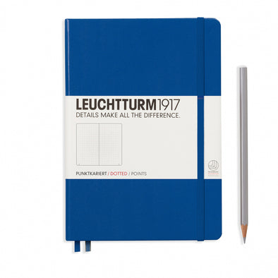 NOTEBOOK MEDIUM (A5) HARDCOVER, 249 NUMBERED PAGES, DOTTED, ROYAL BLUE