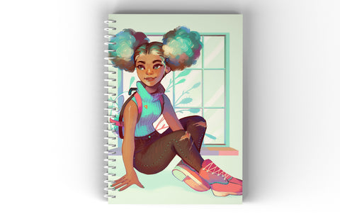 School Girl Spiral Notebook