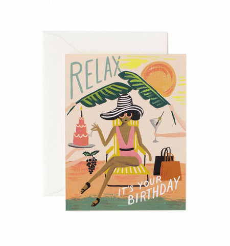 RELAX BIRTHDAY GREETING CARD
