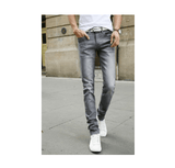 2016 Solid Stretch Skinny Tight Jeans Men's Casual Pants