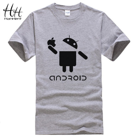 Android Creative Swag Men Short Sleeve Funny Shirt - The Online Clothing Store