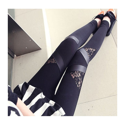 Spring Triangle Patchwork Sexy Leggings