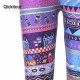 Retro Colored Capris Sport Womens Fashion Leggings