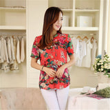 2016 Kimono Chiffon Printed Short sleeve Casual Tops - The Online Clothing Store