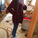 2016 Autumn Loose Plaid Pullover Hoodie Women's Sport Sweatshirts - The Online Clothing Store