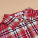 New Turn-down Collar Plaid Long Sleeve Women's Casual Shirt
