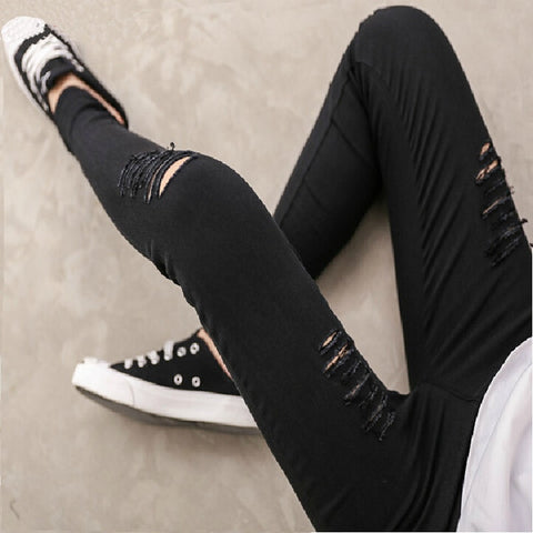 Ripped Jeans Spring Summer New Fashion Leggings