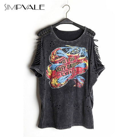 2016 Punk Rock Print Off Shoulder Vintage Women's Sexy Shirts - TheOnlineClothingStore