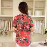 2016 Summer style Kimono blouses top Plus size XS-5XL Chiffon Printed Short sleeve Casual Women shirts blusas tops vintage body - The Online Clothing Store