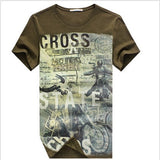 Summer Men Skateboard Cotton Clothing Short Sleeve