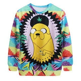 Autumn Adventure Time 3D Print Pullover Women's Casual Sweatshirt