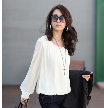 2016 Chiffon Vintage Loose Women's Fashion Blouse - TheOnlineClothingStore