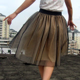 Chiffon Puff Midi Knee Length Tutu Skirts