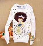 2016 Autumn Cartoon Pullover Women's Casual Sweatershirt - TheOnlineClothingStore