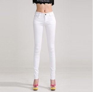 Autumn Mid Waist Zipp Slim Fit Skinny Women's Fashion Jeans