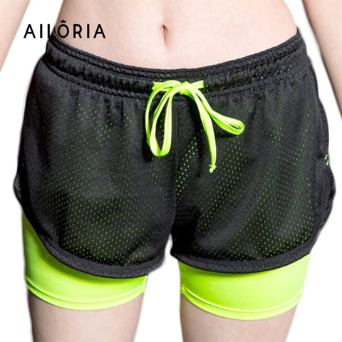 2016 Summer Double Lining Printed Women's Fitness Short