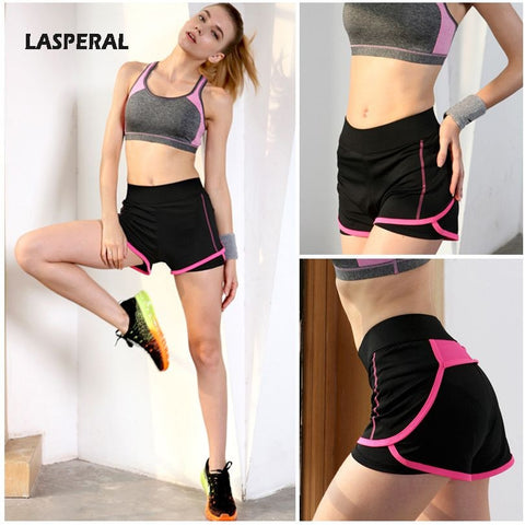 2016 Two-Pieces High Waist Women's Workout Shorts
