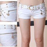 Summer Thin Slim Night Club Wear Low Waist Sexy Shorts