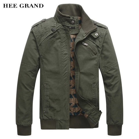 2016 Spring Autumn Cotton Stand Collar  Men's Fashion Casual Jacket
