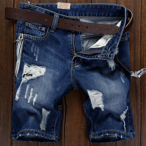 2016 Summer Knee Length Denim Jeans Men's Fashion Short