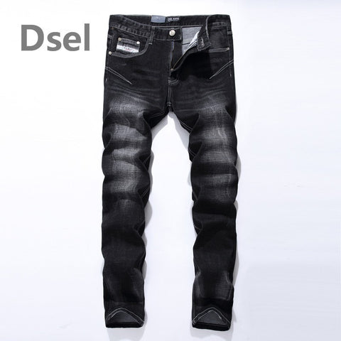 Stripe Slim Design Denim Jeans Men's Fashion Pants