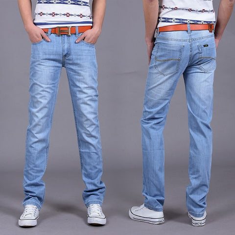 2016 Summer Style Thin Denim Jeans Men's Casual pants