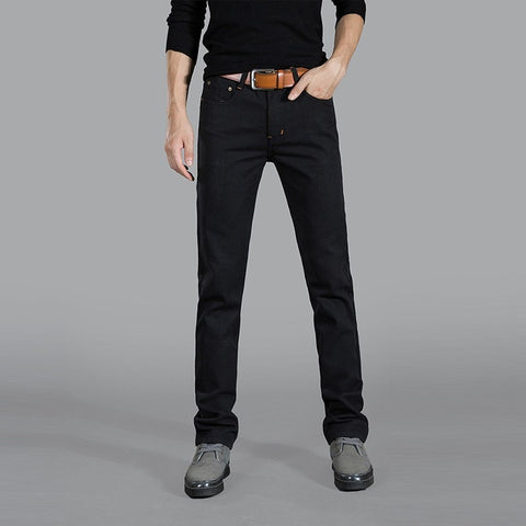 Light Straight Slim Business Style Jeans Men's Fashion Pants
